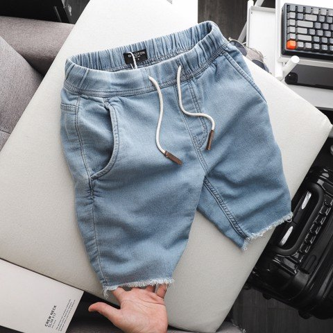 Quần short BOUTON soft denim ss21