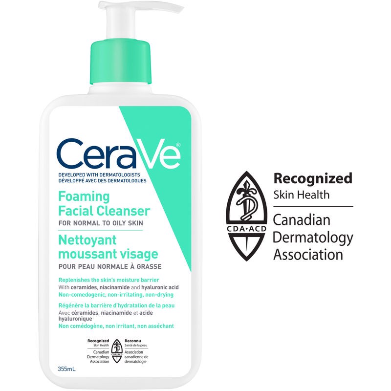 Sữa rửa mặt Cerave Foaming & Hydrating Facial Cleanser 355 ml & 562 ml