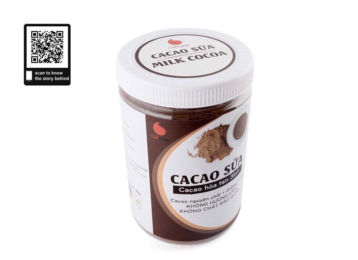 Bột Cacao Sữa 3in1 - 550gr - LIGHT CACAO
