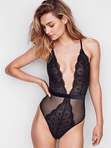 Very Sexy Lace & Mesh Plunge Teddy