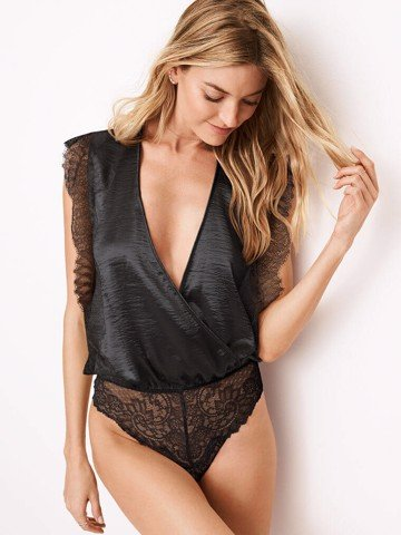 Dream Angels Chantilly Lace Wrap Bodysuit