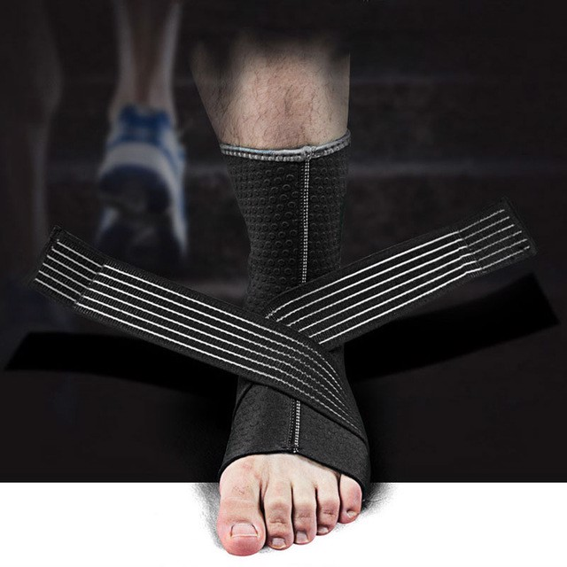 Băng cổ chân - Basketball black Performance Advanced Ankle Support
