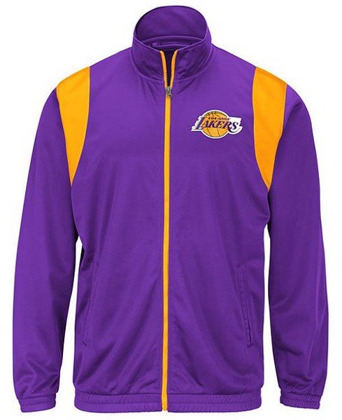 Los Angeles Lakers Purple Embroidered Full-Zip Jackets by G-III Sports by Carl Banks