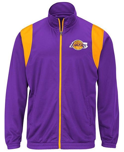Los Angeles Lakers Purple Embroidered Full-Zip Track Jackets by G-III Sports by Carl Banks