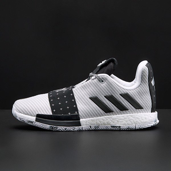 adidas Harden 3 (Cloud White / Core Black / Light Solid Grey)