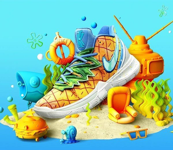 Nike Kyrie 5 SpongeBob SquarePants Pineapple House