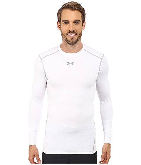 Under Armour White Compression Long Sleeve Shirt (FULL BOX)