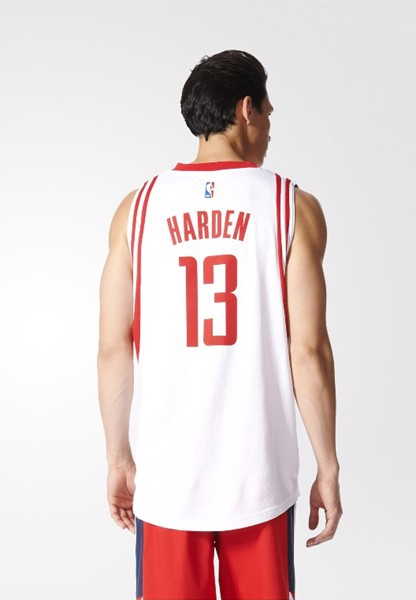 James Harden #13 Houston Rockets White Swingman Jersey by adidas