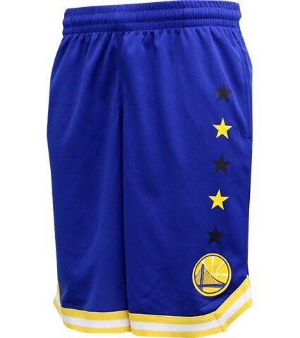 Golden State Warriors Blue Team Color 5 Star Power Mesh Jersey Shorts By UNK NBA (Real/New)