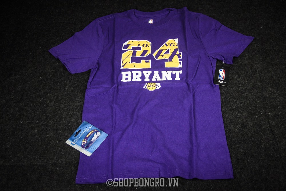 Kobe Bryant #24 Los Angeles Lakers Purple Crew Neck Short Sleeve Tee By UNK NBA