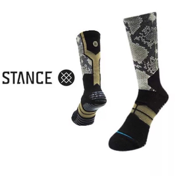 STANCE FUSION SNAKE MAMBA FL BASKETBALL SOCKS with TRINITI TECHNOLOGY (Size L/XL 9-13US)