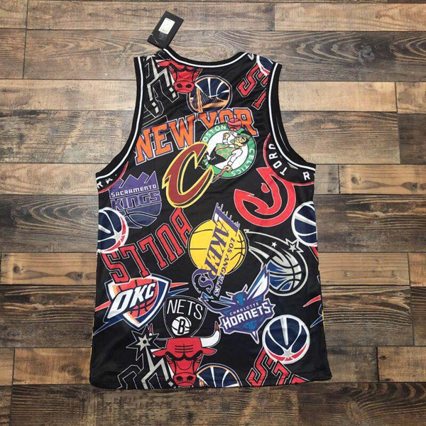 Association NBA Team Black Mesh Jersey Training Tank by UNK NBA