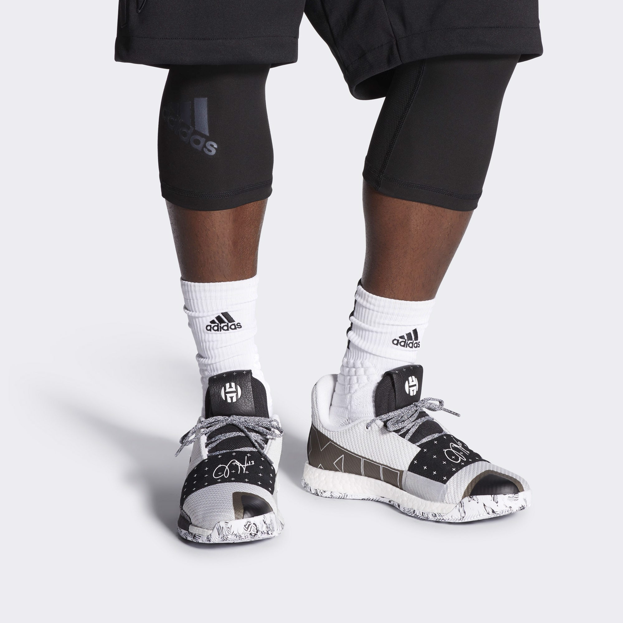adidas Harden 3 White Black Grey