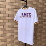 LeBron James #23 Los Angeles Lakers White Embroidered Logo Jersey T-shirt By UNK NBA