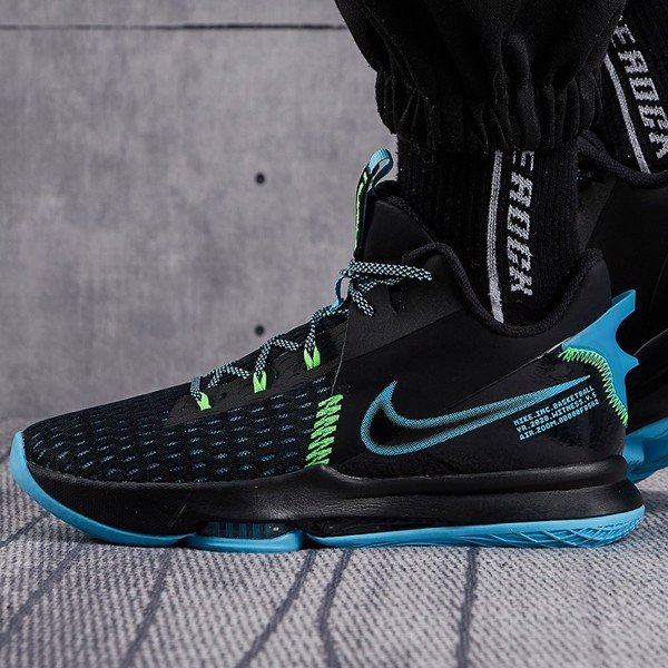 Nike LeBron Witness 5 Black Blue Volt