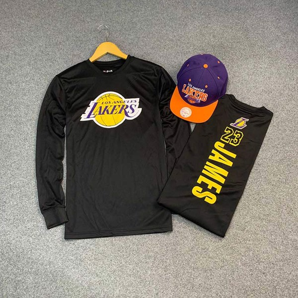 Ultra Game NBA Lebron James #23 Lakers Long Sleeve