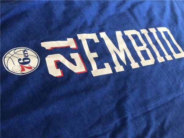 UNK NBA Embiid #21 76ers Training Tank