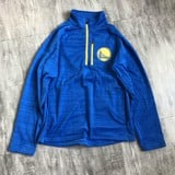 Golden State Warriors Blue Embroidered Quarter-Zip Jackets By G-III Sports by Carl Banks