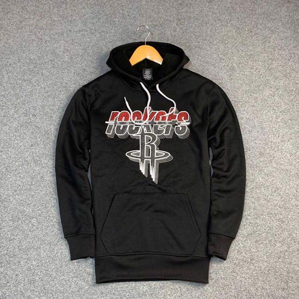 Houston Rockets Black Long Sleeve Hoodie by UNK NBA (Real/New)