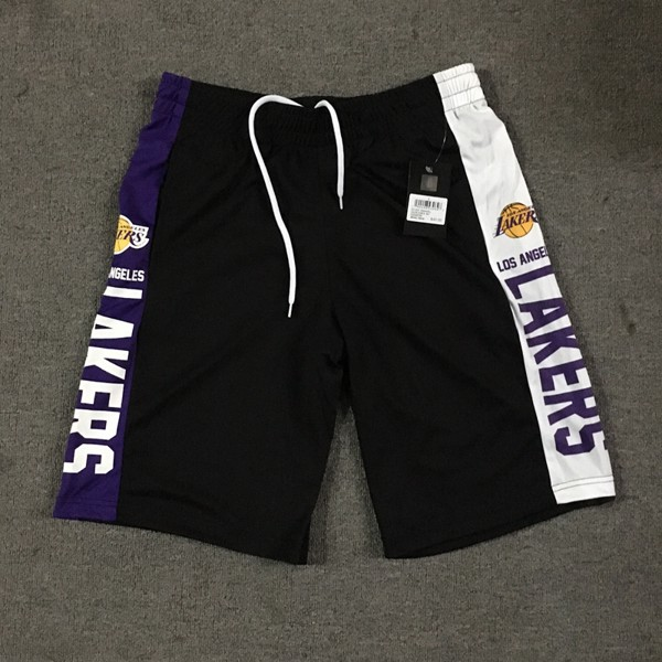 Los Angeles Lakers / Chicago Bulls Black Shorts By UNK NBA (Real/New)