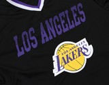 Los Angeles Lakers Black Mesh V-Neck Jersey Tee By UNK NBA