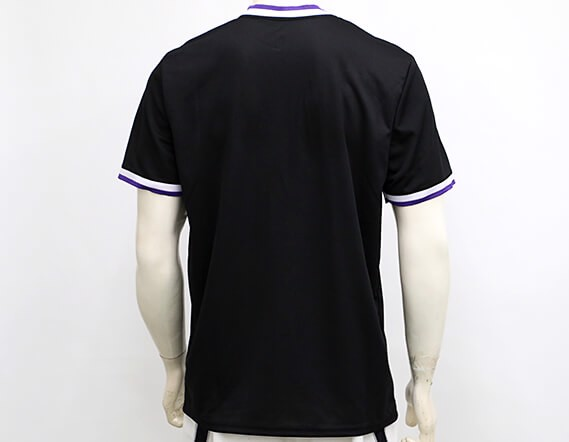 Los Angeles Lakers Black Mesh V-Neck Jersey Tee By UNK NBA (Real/New)