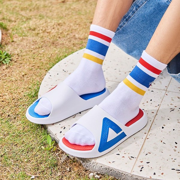 Peak Taichi Slippers White Blue
