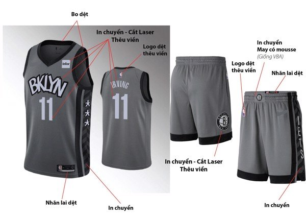 Delo NBA Kyrie Irving #11 Brooklyn Nets Jersey