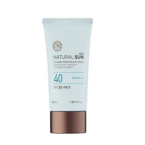KEM CHỐNG NẮNG THE FACE SHOP NATURAL SUN ECO NO SHINE HYDRATING SPF40+ PA+++ 100ML