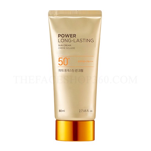 KEM CHỐNG NẮNG THE FACE SHOP NATURAL SUN ECO POWER LONG LASTING SPF50+ PA+++ 80ML