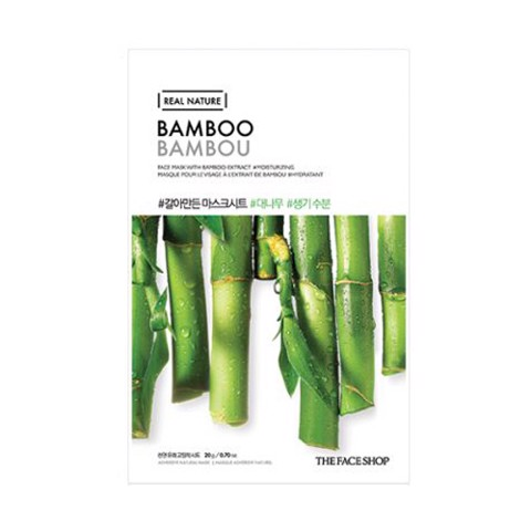 MẶT NẠ THE FACE SHOP REAL NATURE BAMBOO  FACE MASK
