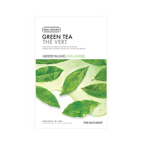 MẶT NẠ THE FACE SHOP REAL NATURE GREEN TEA  FACE MASK