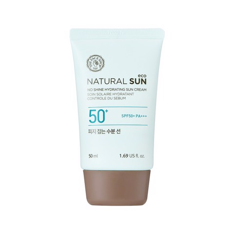 KEM CHỐNG NẮNG THE FACE SHOP NATURAL SUN ECO NO SHINE HYDRATING SPF50+ PA+++ 50ML