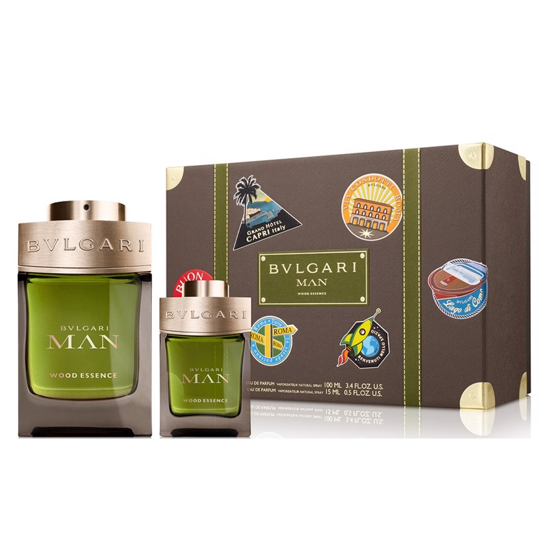 SET NƯỚC HOA NAM EAU DE PARFUM BVLGARI MAN WOOD ESSENCE 100/15ML