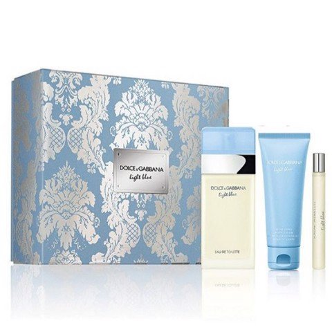 SET NƯỚC HOA NỮ EAU DE TOILETTE DOLCE&GABBANA LIGHT BLUE 100ML/10ML/100ML