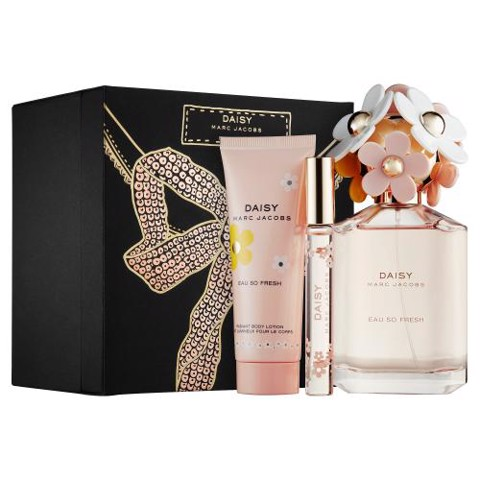 SET NƯỚC HOA NỮ EAU DE TOILETTE MARC JACOBS DAISY EAU SO FRESH 125ML/75ML/10ML