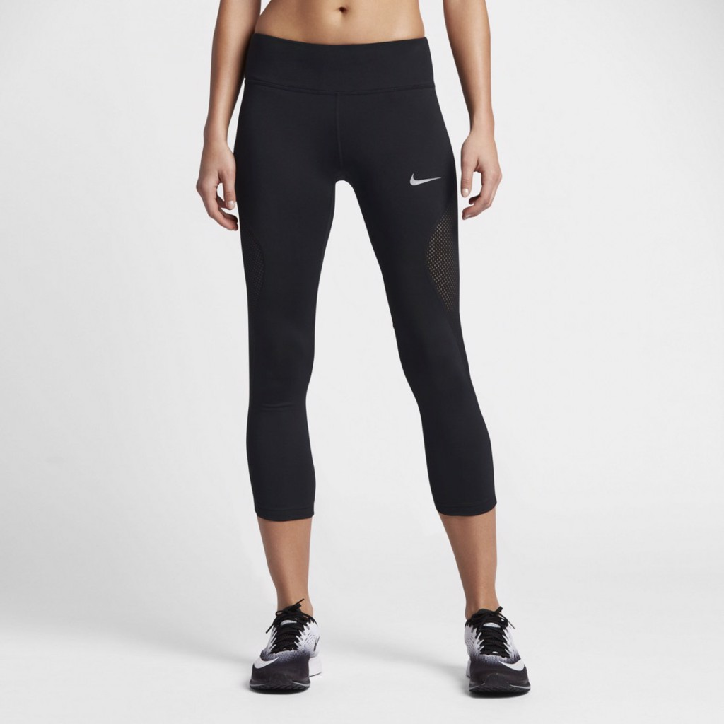 Quần thể thao nữ Nike APP AS W NK PWR CROP RACER COOL 855145-010 (Đen)