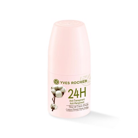 LĂN KHỬ MÙI YVES ROCHER COTTON FLOWER FROM INDIA 24H ANTI PERSPIRANT 50ML