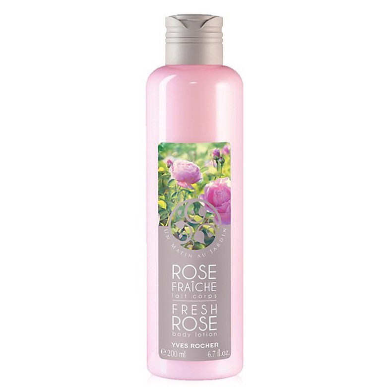 DƯỠNG THỂ YVES ROCHER FRESH ROSE BODY LOTION 200ML