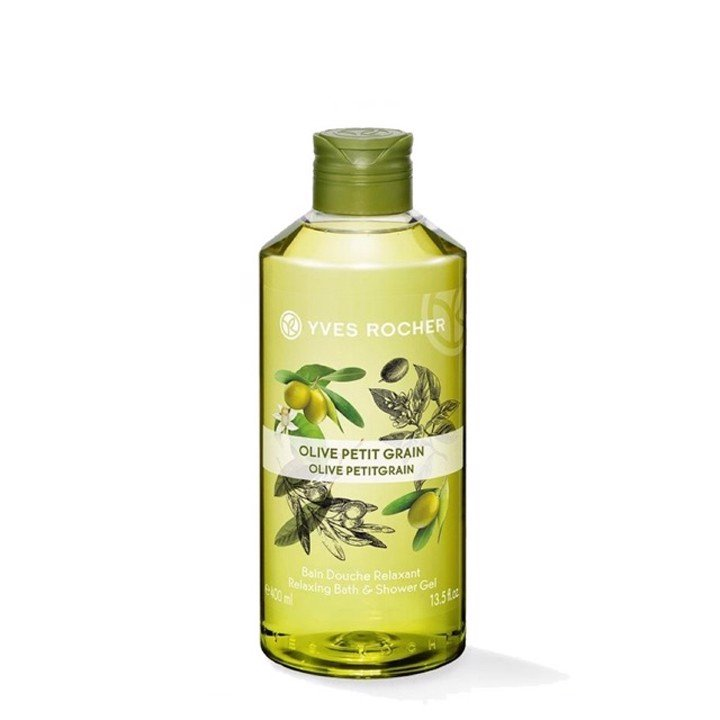 GEL TẮM YVES ROCHER OLIVE PETITGRAIN RELAXING BATH AND SHOWER GEL 400ML
