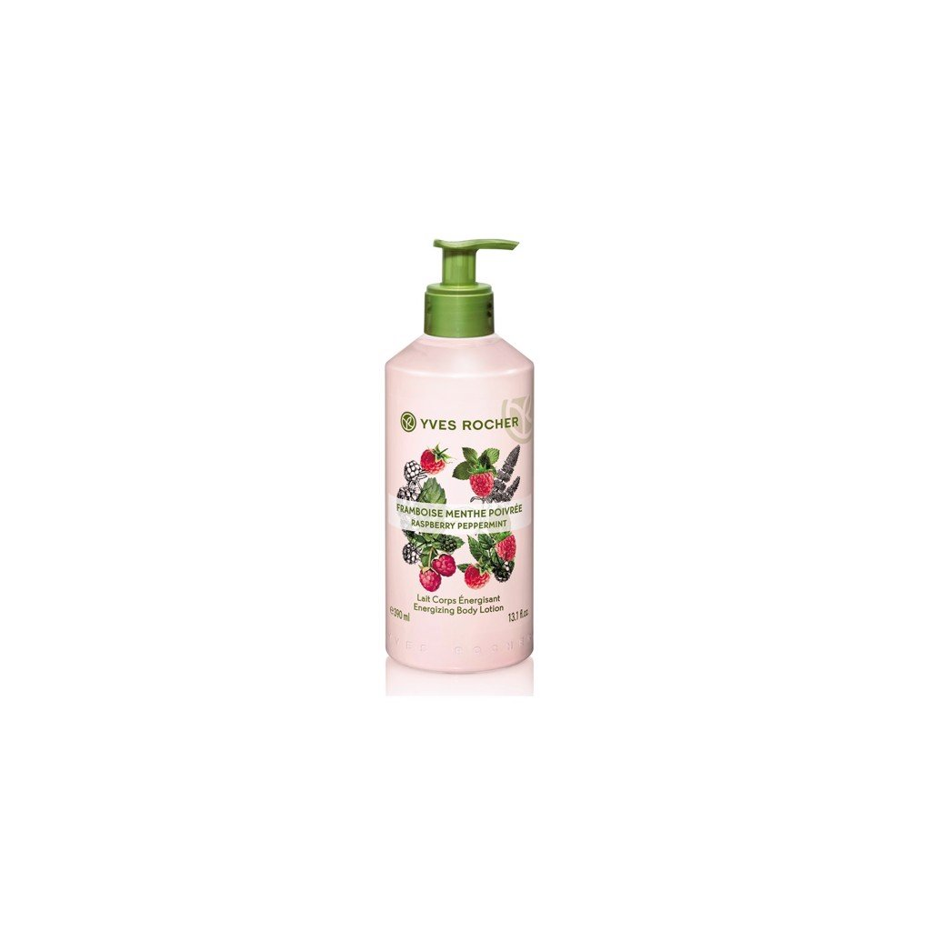 DƯỠNG THỂ YVES ROCHER RASPBERRY PEPERMINT ENERGIZING BODY LOTION 390ML