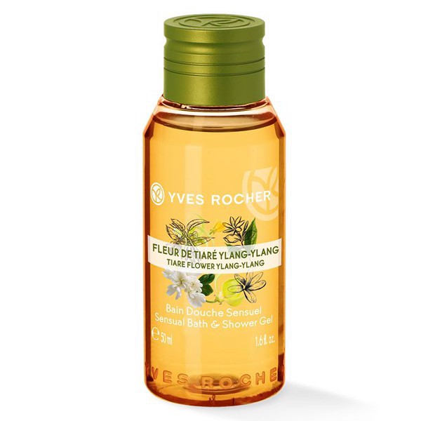 GEL TẮM CÔ ĐẶC YVES ROCHER TIARE FLOWER YLANG YLANG CONCENTRATED SHOWER GEL 50ML