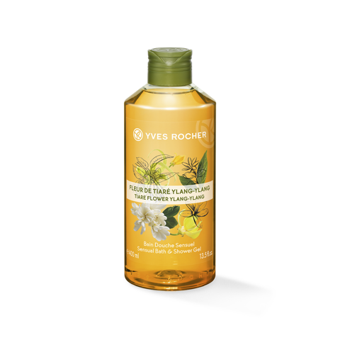 GEL TẮM CÔ ĐẶC YVES ROCHER TIARE FLOWER YLANG YLANG CONCENTRATED SHOWER GEL 400ML