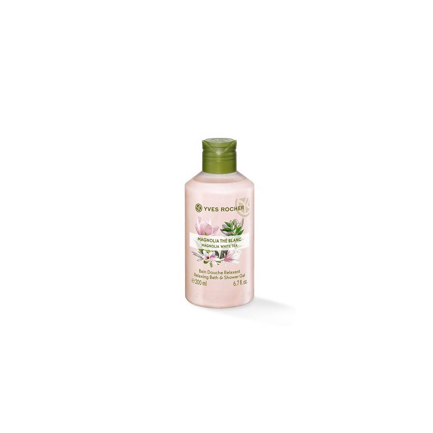 GEL TẮM YVES ROCHER MAGNOLIA WHITE TEA RELAXING BATH AND SHOWER GEL 200ML