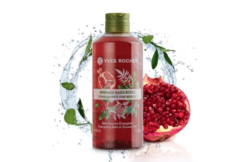 GEL TẮM YVES ROCHER POMEGRANATE PINK BERRIES BATH AND SHOWER GEL 200ML