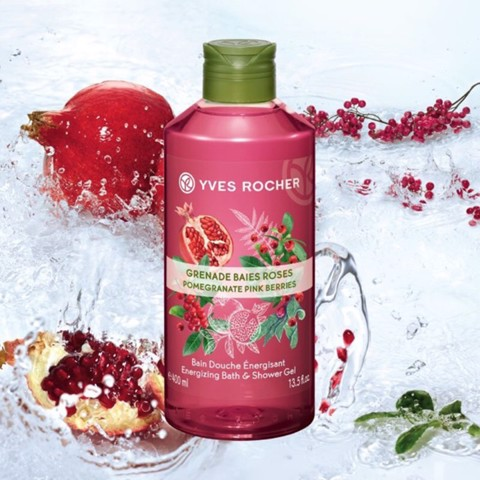 GEL TẮM YVES ROCHER MINI POMEGRANATE PINK BERRIES ENERGIZING BATH AND SHOWER GEL 50ML