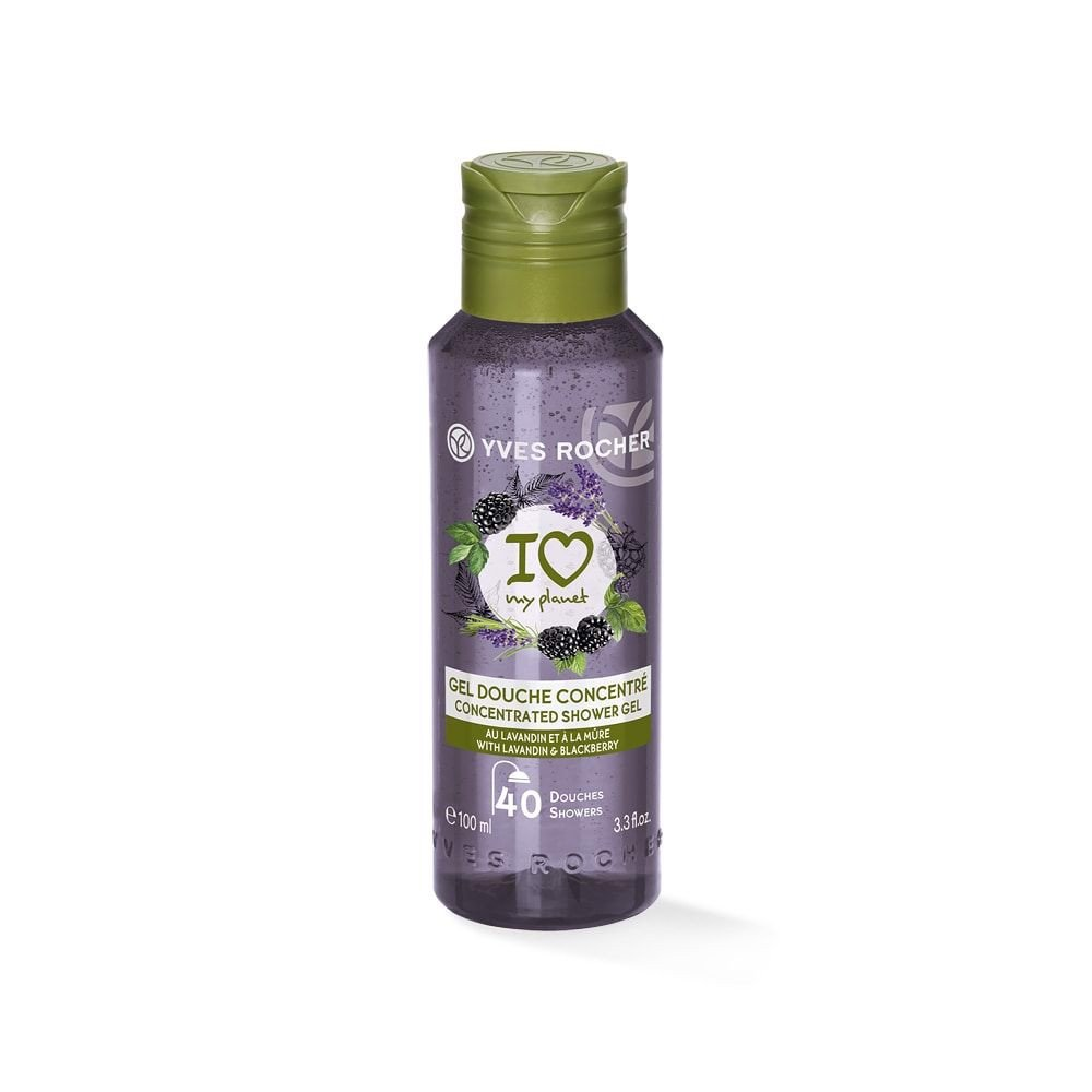 GEL TẮM CÔ ĐẶC YVES ROCHER LAVADIN AND BLACKBERRY CONCENTRATED SHOWER GEL 100ML