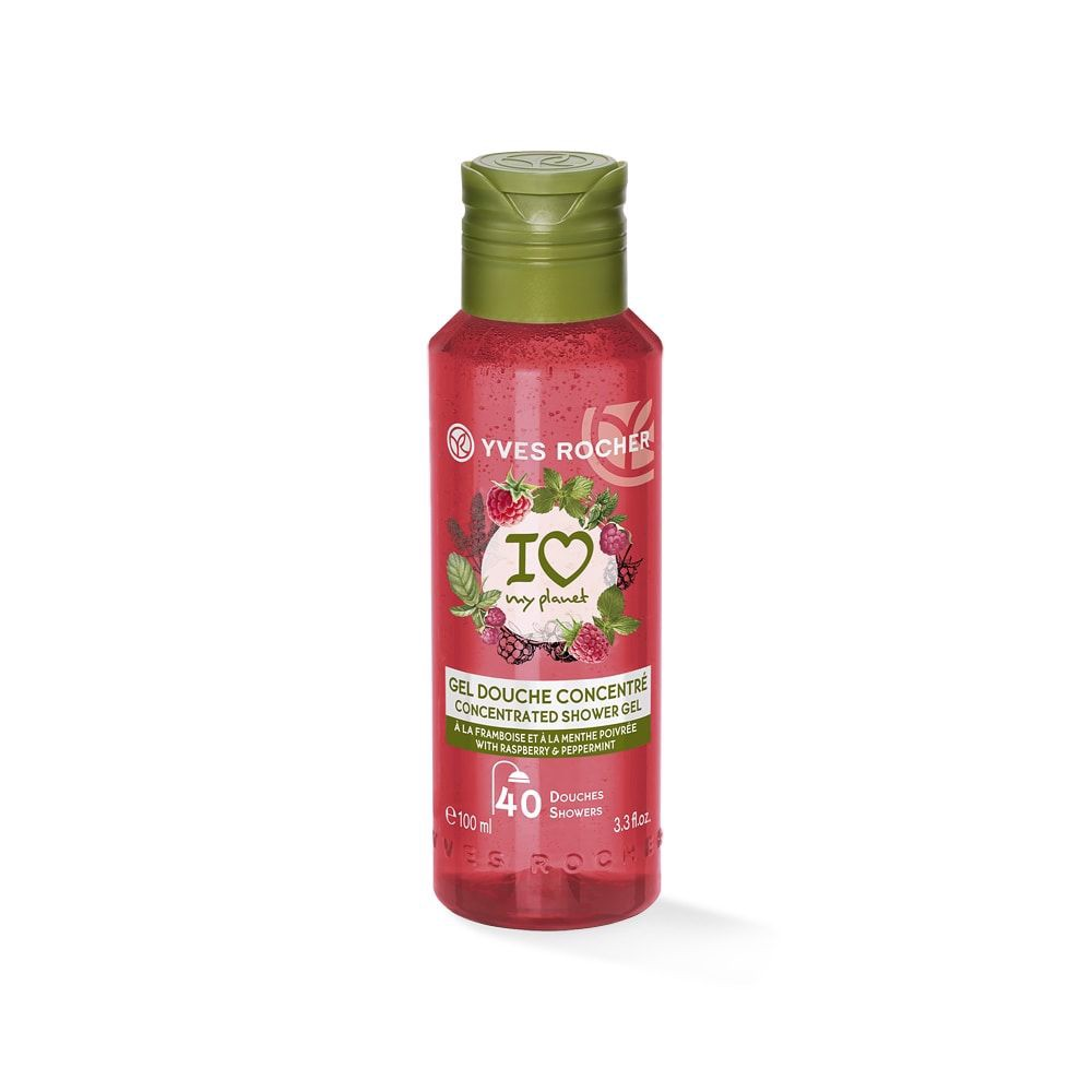 GEL TẮM CÔ ĐẶC YVES ROCHER  RASPBERRY PEPPERMINT CONCENTRATED SHOWER GEL 100ML