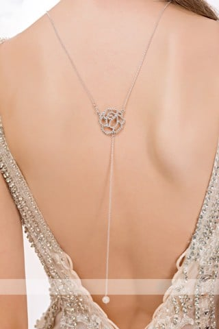 Dây chuyền Back Chain Necklace Wedding BCNW MS12