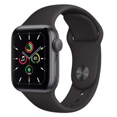 Apple Watch SE GPS 44mm MYDT2VN/A Space Gray Aluminium Case with Black Sport Band